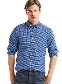 Oxford tattersole gingham long sleeve shirt