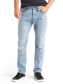STRETCH 1969 destructed slim fit jeans