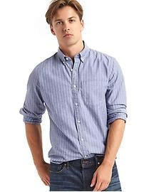 Oxford novelty stripe long sleeve shirt
