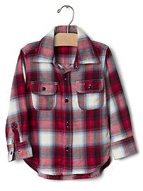 babyGap + Pendleton plaid button shirt