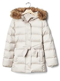 Warmest down belted jacket