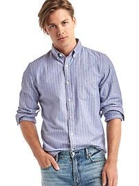 Oxford thin stripe slim fit shirt
