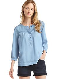 Tencel&#174 shirred popover