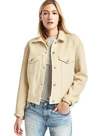 Twill denim-style jacket