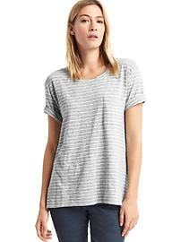 Relaxed slub stripe tee