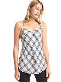 Soft plaid long cami