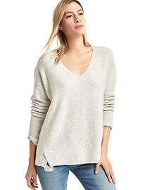 V-neck cozy sweater