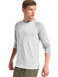 Mapping mesh long sleeve t-shirt