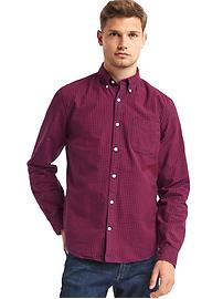 Oxford gingham slim fit shirt