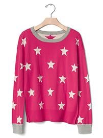 Intarsia starry sweater