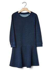 Indigo terry dress