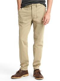 Lightweight utility slim fit pants