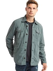 Fleece-lined shirt jacket