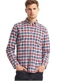 Oxford plaid long sleeve shirt