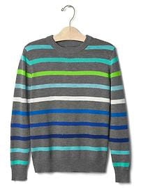 Multi stripe crew sweater