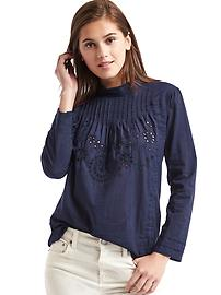 Eyelet victorian top