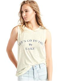 Lake graphic muscle tank