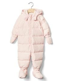 Warmest down snowsuit