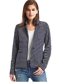 French terry stripe blazer
