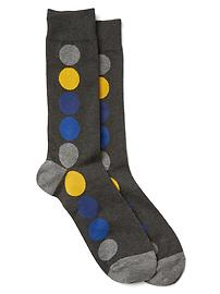 Dot row crew socks