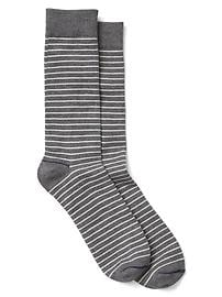 Thin stripe crew socks