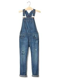 1969 rip & repair denim overalls