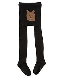 Cable knit bear tights