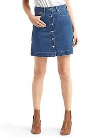 1969 denim mini skirt