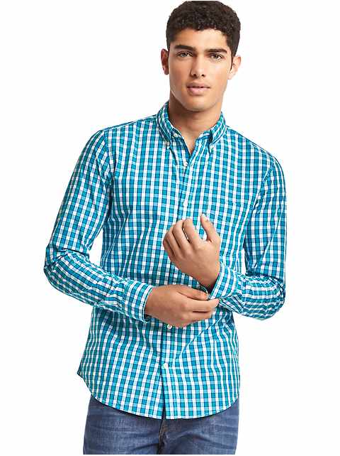 True wash checkered slim fit shirt