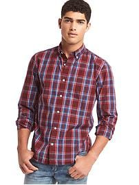 True wash large plaid standard fit shirt