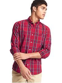 True wash large plaid slim fit shirt