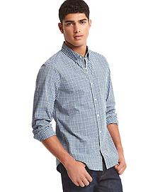 True wash micro checkered slim fit shirt