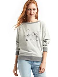 Relaxed cursive logo pullover sweatshirt