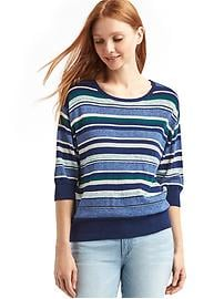 Half sleeve stripe easy pullover
