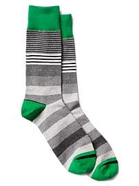 Mix-stripe crew socks