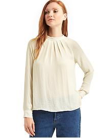 Drapey pleated blouse