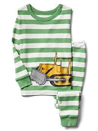 Bulldozer stripe sleep set