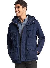 Gap + Pendleton hooded fatigue jacket