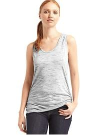 Shirred scoop tank