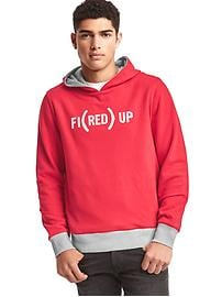 Gap x (RED) reversible hoodie