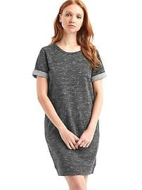 Roll sleeve sweatshirt dress