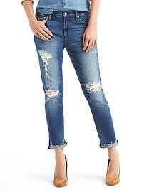 AUTHENTIC 1969 destructed  best girlfriend jeans