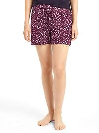 Pure body print sleep shorts