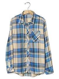 Plaid twill pocket shirt