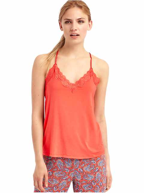 Lace-trim cami