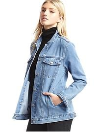 1969 icon long denim jacket