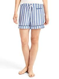 Piping sleep shorts