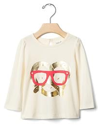 Embellished happy pretzel tee