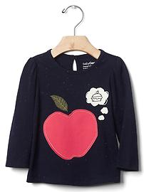 Apple thoughts nepped tee