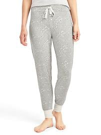 Pure body print joggers